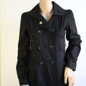 Marc by Marc Jacobs Black Lightweight Peacoat NWT